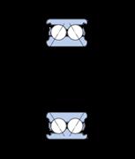 Immagine per la categoria Cuscinetti obliqui a sfere, a due corone