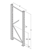 Immagine per la categoria Scaffalatura porta pallet light (O-LBB)